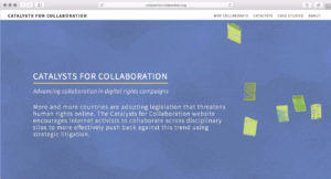 Screenshot of the Catalysts for Collaboration website